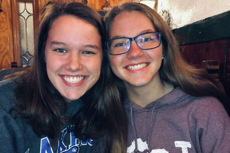 Chloe (left) and her sister Emily were set to play No. 1 singles for Big Rapids tennis this season. (Courtesy photo)