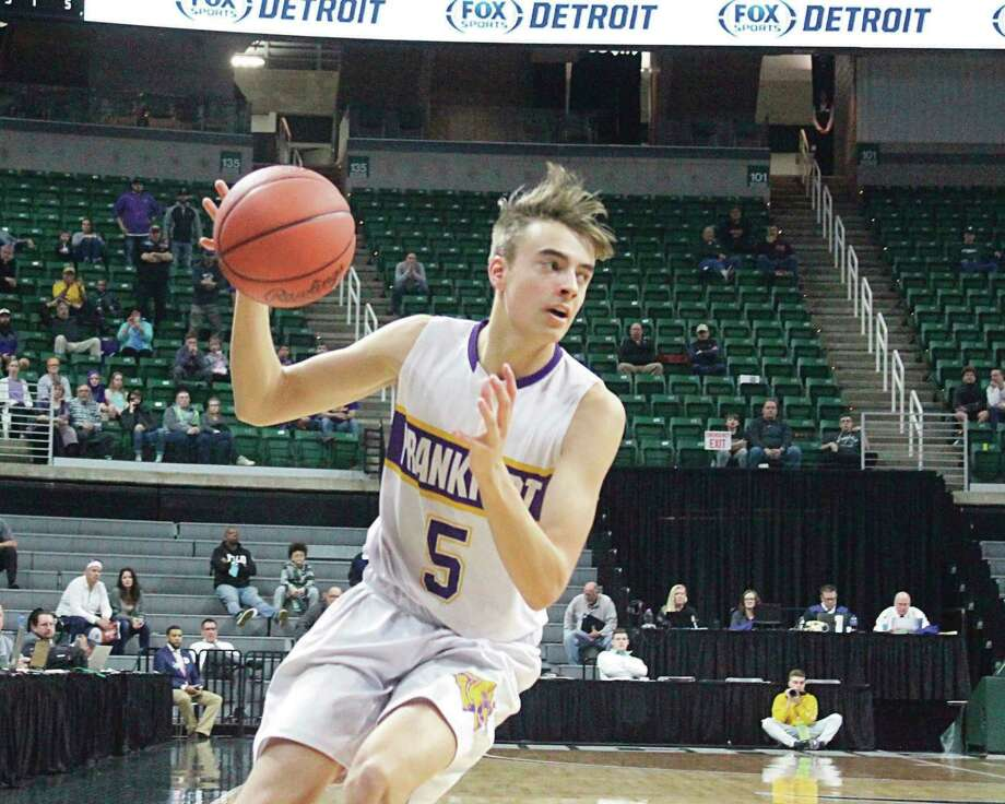 Luke Hammon and his Frankfort teammates will not get their chance to return to the Breslin Center this year after the MHSAA canceled what looked to be a promising state basketball tournament for the Panthers. (File photo)