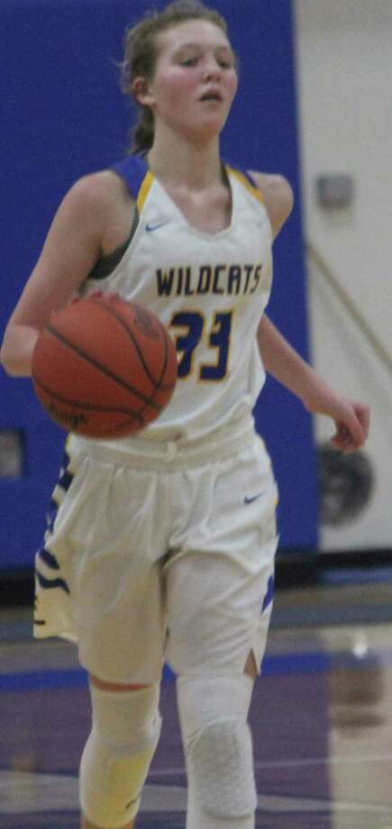 Evart's Addy Gray was a freshman on the varsity basketball team this season. (Herald Review file photo)