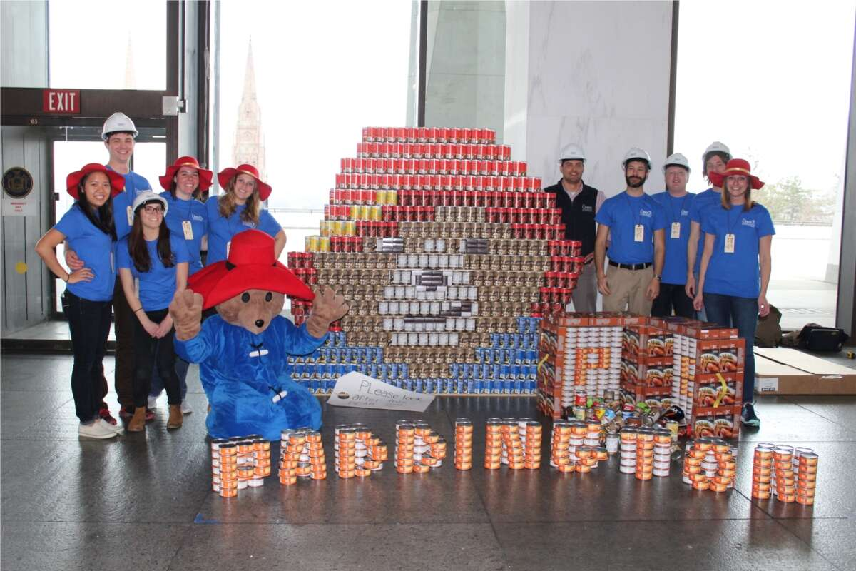 Engineering firm the Chazen Companies, a 2020 times Union Top Workplaces, takes part in the Canstruction build and exhibit at the New York State Museum.