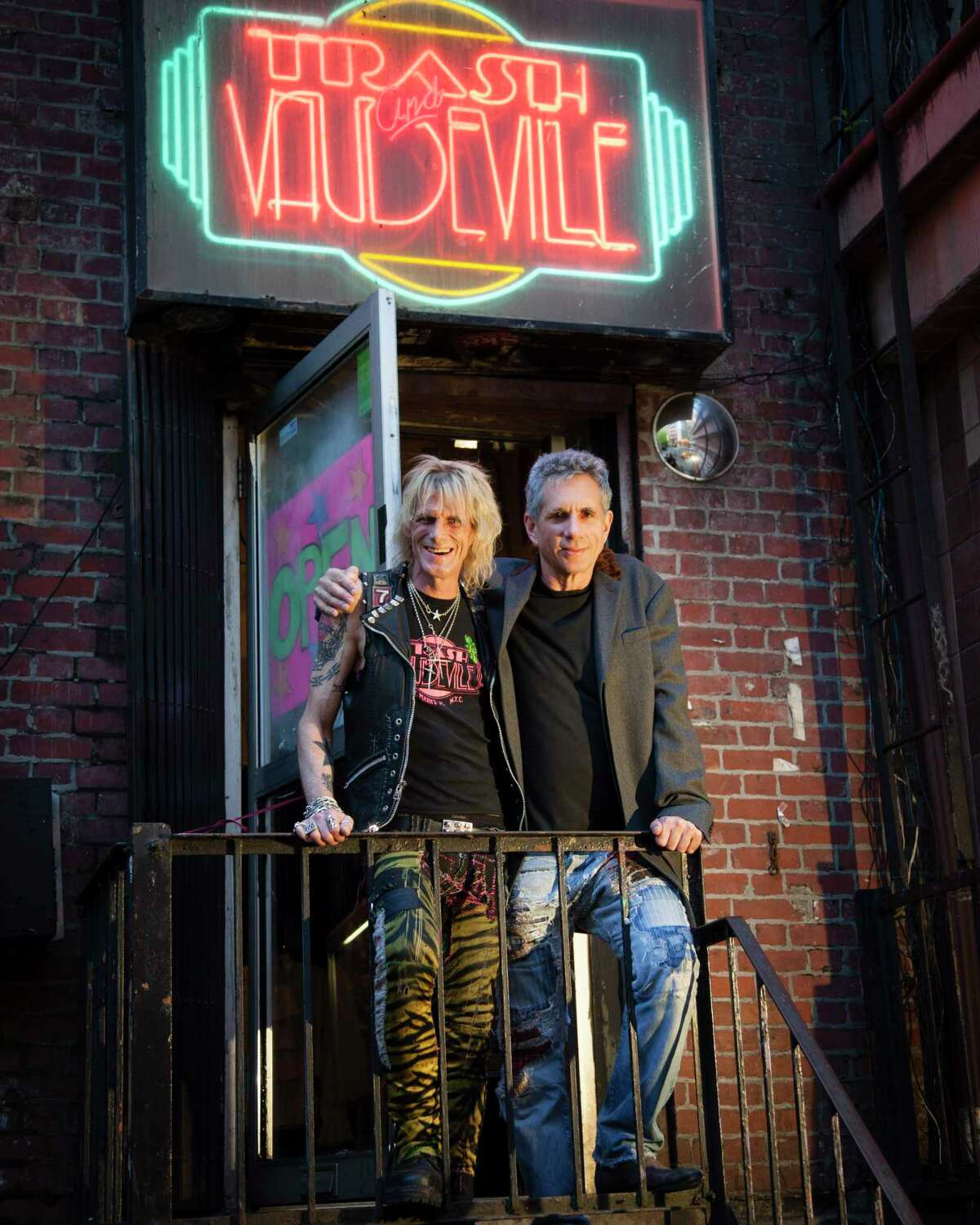 Jimmy Webb, left, the manager and buyer at Trash and Vaudeville, and Ray Goodman, the owner in New York, April 30, 2013. Trash and Vaudeville, around since 1975, remains a fixture in a very different East Village. (Deidre Schoo/The New York Times)