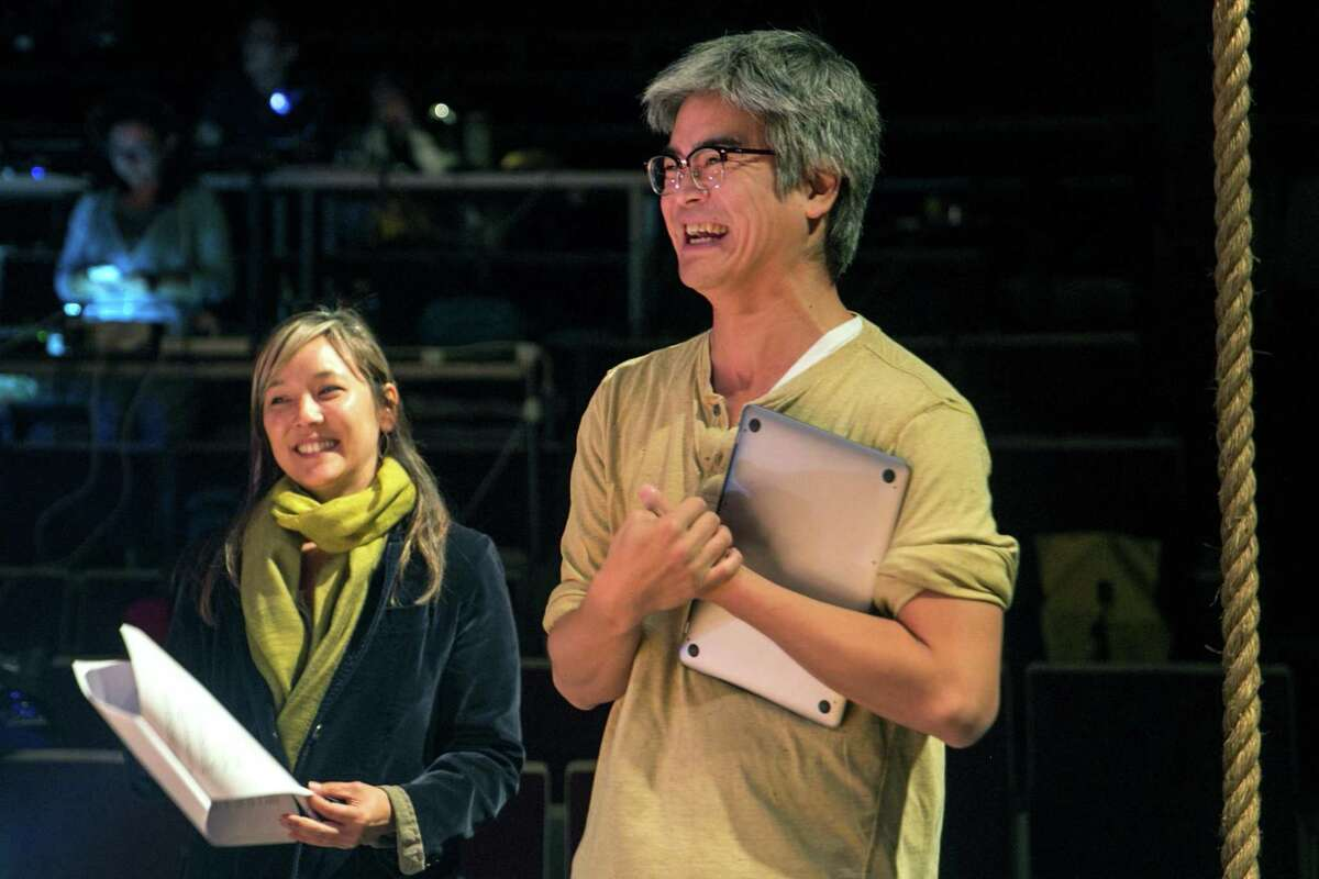"""Lloyd Suh, ritght, wrote """"The Chinese Lady,"""" shown in production in San Francisco last year. He also wrote a short play for """"Play at Home."""""""