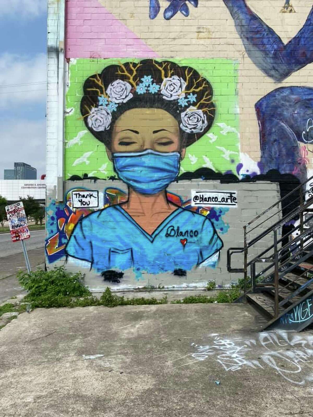 Artist: Sylvia Blanco Art on FacebookLocation: 2102 Leeland Street (Graffiti Park)