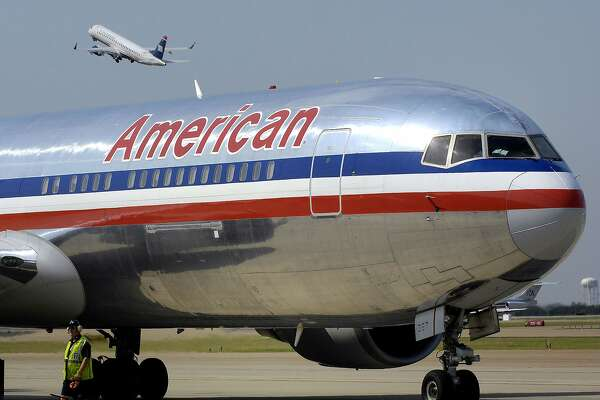 An American Airlines jet at Dallas-Fort Worth International Airport. (Max Faulkner/Fort Worth Star-Telegram/TNS)