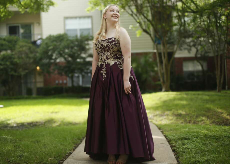 Dulles High School senior Maya Leo has looked forward to prom since her freshman year, buying her dream dress from a girl a couple of years older. Photo: Elizabeth Conley/Staff Photographer / ? 2020 Houston Chronicle