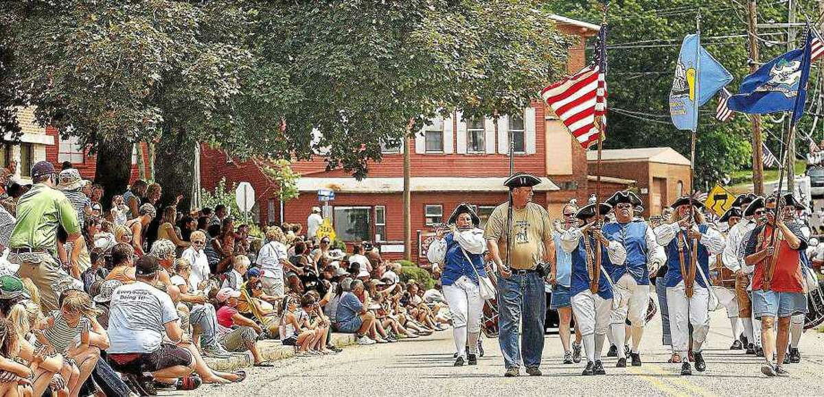 In this file photo, The Connecticut Regiment of Fifes & Drums in the 30th Annual East Hampton Old Home Days Parade.