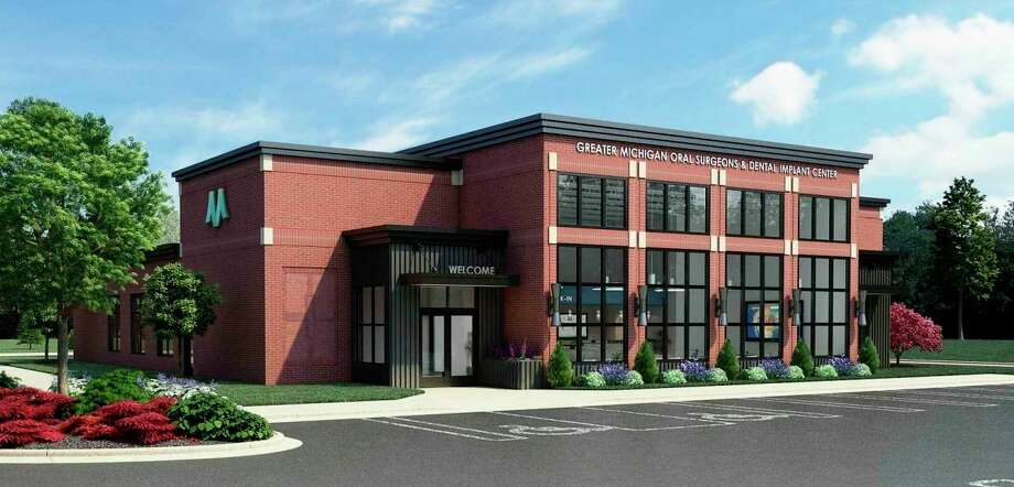 A concept rendering shows what the proposed new oral surgeon facility will look like, located on the corner of Eastman Avenue and Sylvan Lane in Midland. (Agenda photo)