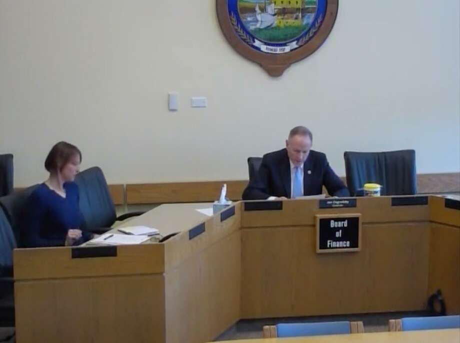 The Board of Finance had a virtual meeting recorded by Darien TV 79. Photo: Courtesy Darien TV 79