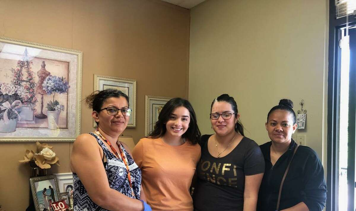 Ninete Rachelle and her mother Nina Lourdes are making masks for people in the Greater Houston area and beyond. Lourdes is a fashion designer with her own business,Charlene Bridal Alteration.