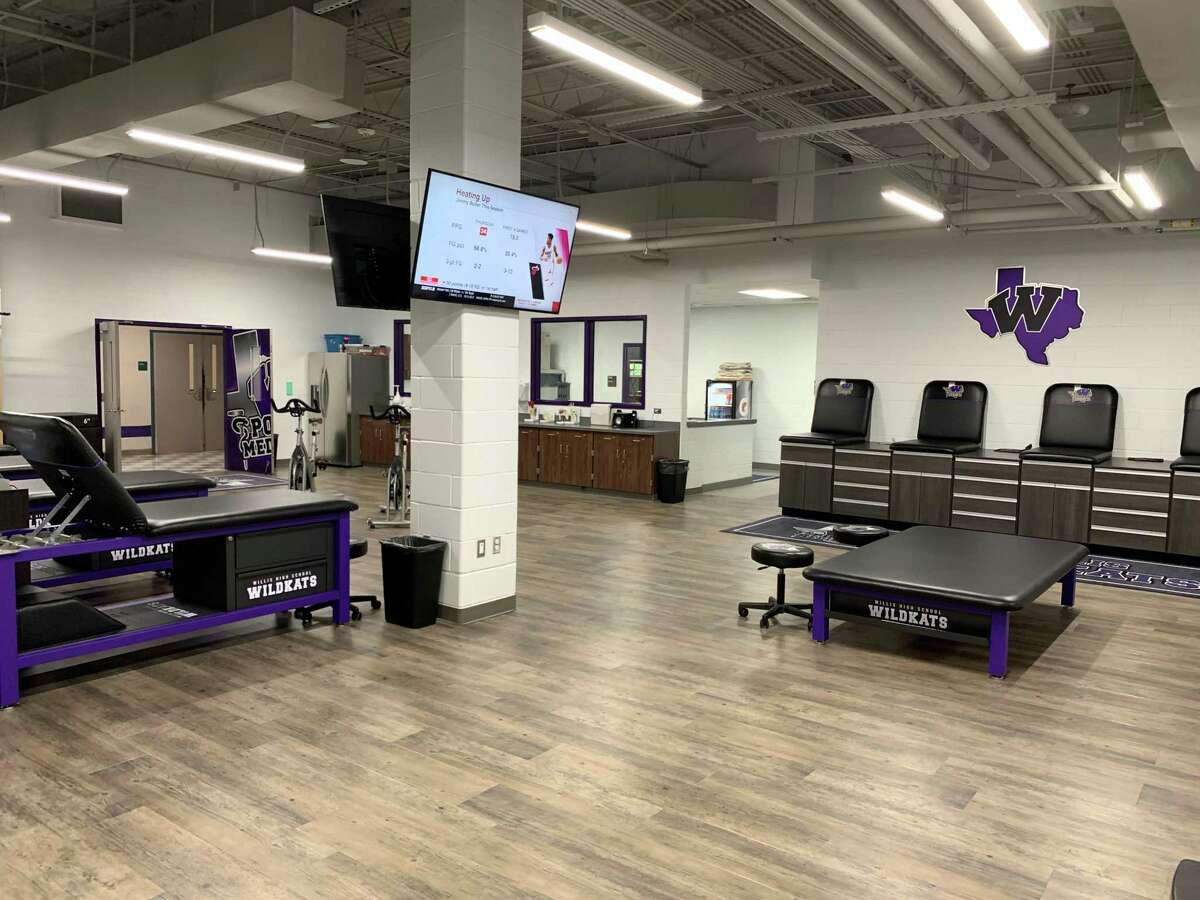A view of the state-of-the-art athletic training room at Willis High School.