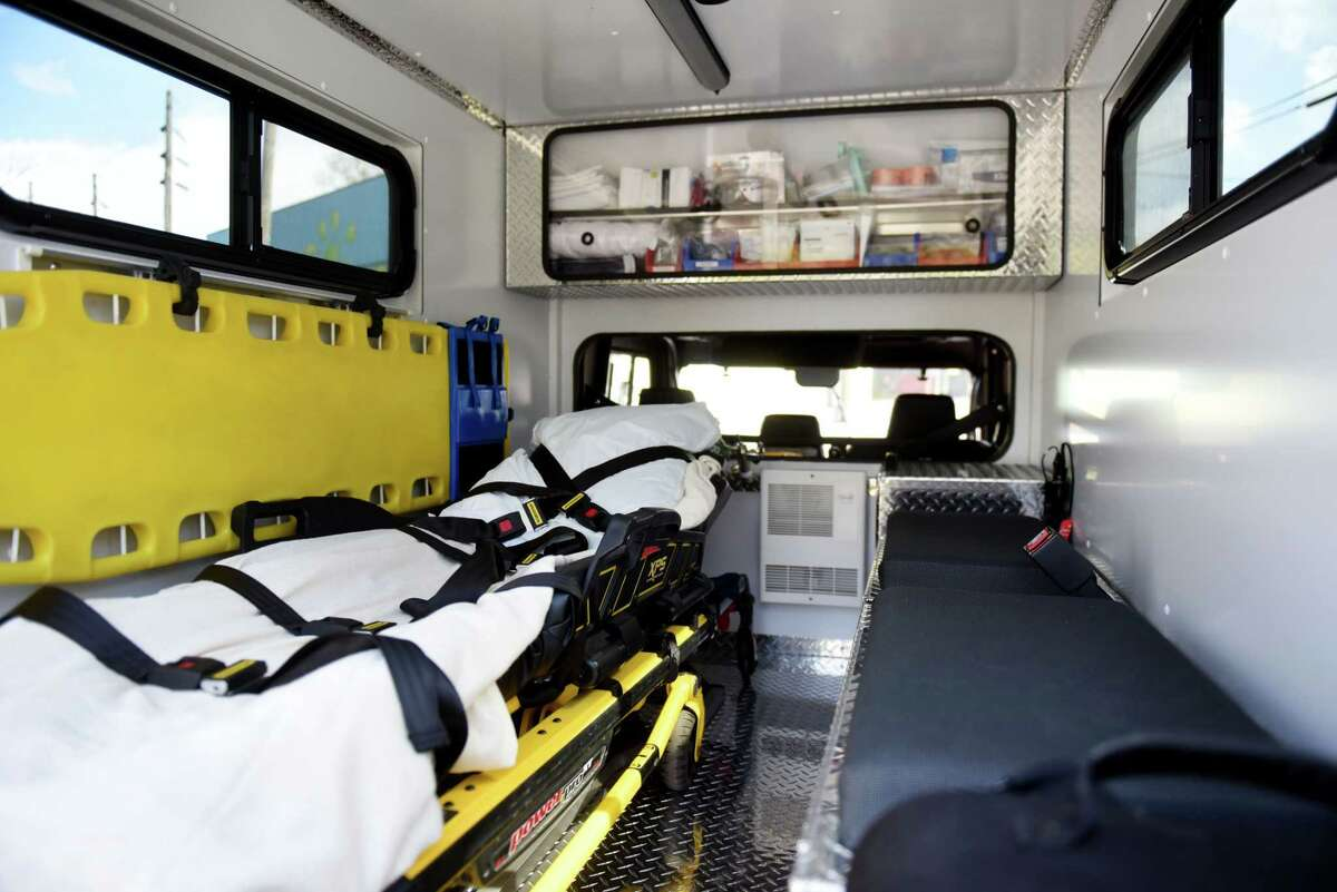 A look inside the new Delmar-Bethlehem EMS off road ambulance on Wednesday, April 15, 2020, in Delmar, N.Y. The small ambulance, based on an ATV, can assist injured users on the nearby Albany County Helderberg-Hudson Rail Trail. (Will Waldron/Times Union)