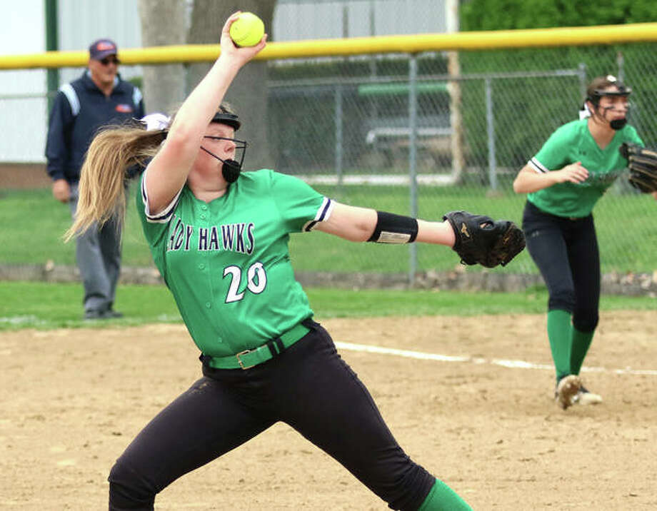 Carrollton pitcher Hannah Rhoades returns for her junior season as the Hawks ace after posting a 1.55 ERA with 128 strikeouts in 131-plus innings last season. Photo: Greg Shashack / The Telegraph
