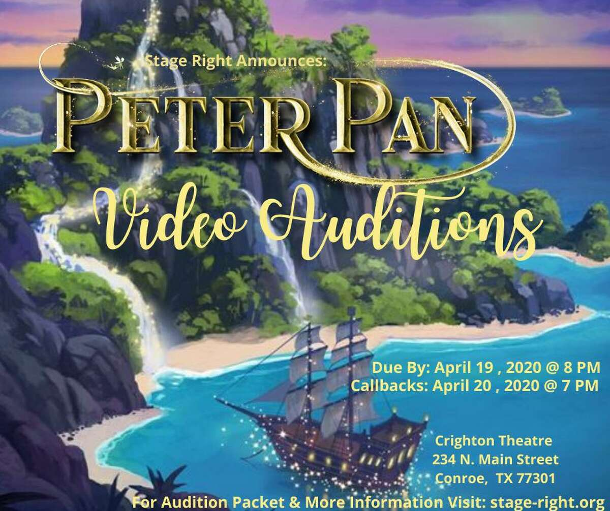 """Stage Right of Texas theater group is hosting virtual auditions for its summer show """"Peter Pan."""" The deadline to submit an audition video is Sunday at 8 p.m."""