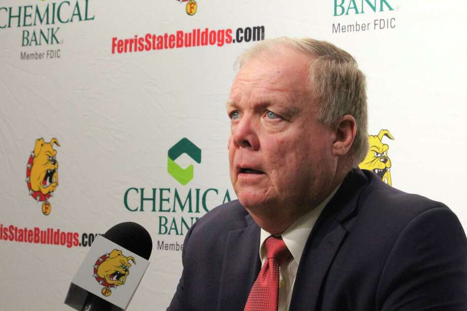 Ferris coach Bob Daniels pointed out in-state hockey opponents help ticket sales at Ewigleben Ice Arena. (Pioneer file photo)
