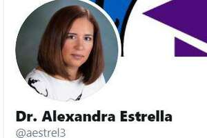 A screen grab from Alexandra Estrella's Twitter page.