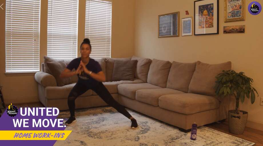 You can visit Planet Fitness' Facebook page throughout the day to watch their videos and work out with a member of their team. Photo: Planet Fitness/Facebook