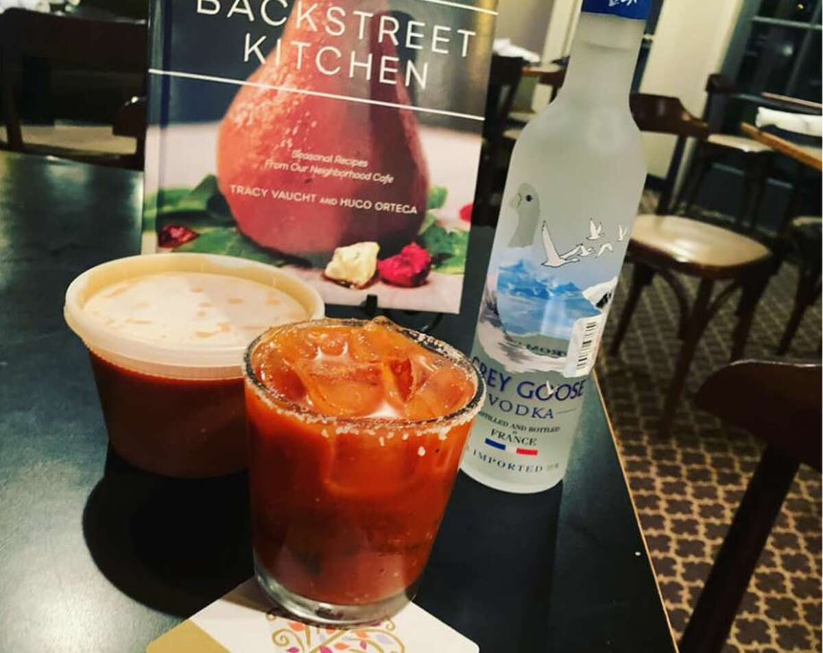 Backstreet Cafe 1103 Shepherd; 713-521-2239 - Bloody Mary ($35): a bottle of Grey Goose vodka and housemade mix.- Mimosa ($15)