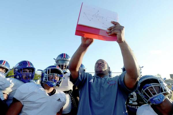 West Brook practices Wednesday as they prepare to face Strake Jesuit Friday in League City. Photo taken Wednesday, November 20, 2019 Kim Brent/The Enterprise