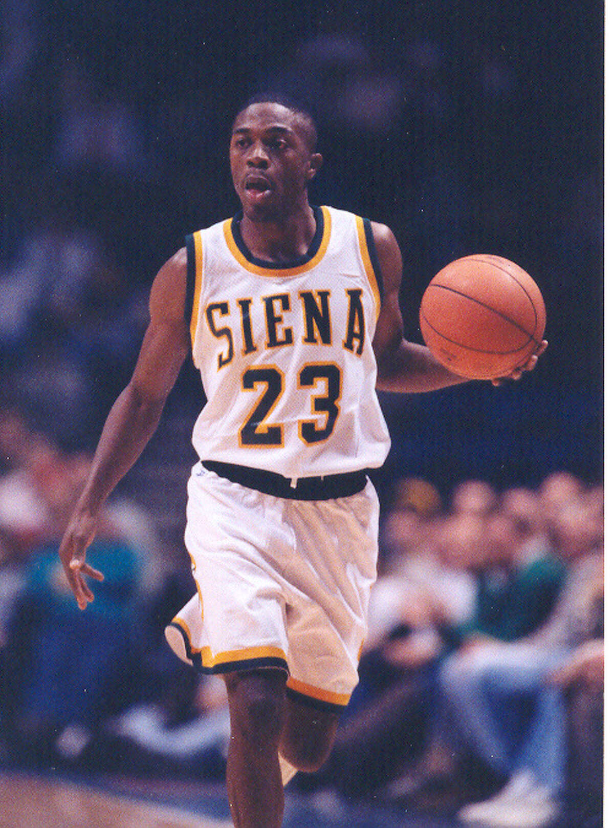 COURTESY PHOTO SIENA COLLEGE -- Doremus Bennerman: During the 1993-94 season, Bennerman averaged 26 points - the most of any player in Siena history. He's second only to Brown on the all-time scoring list.