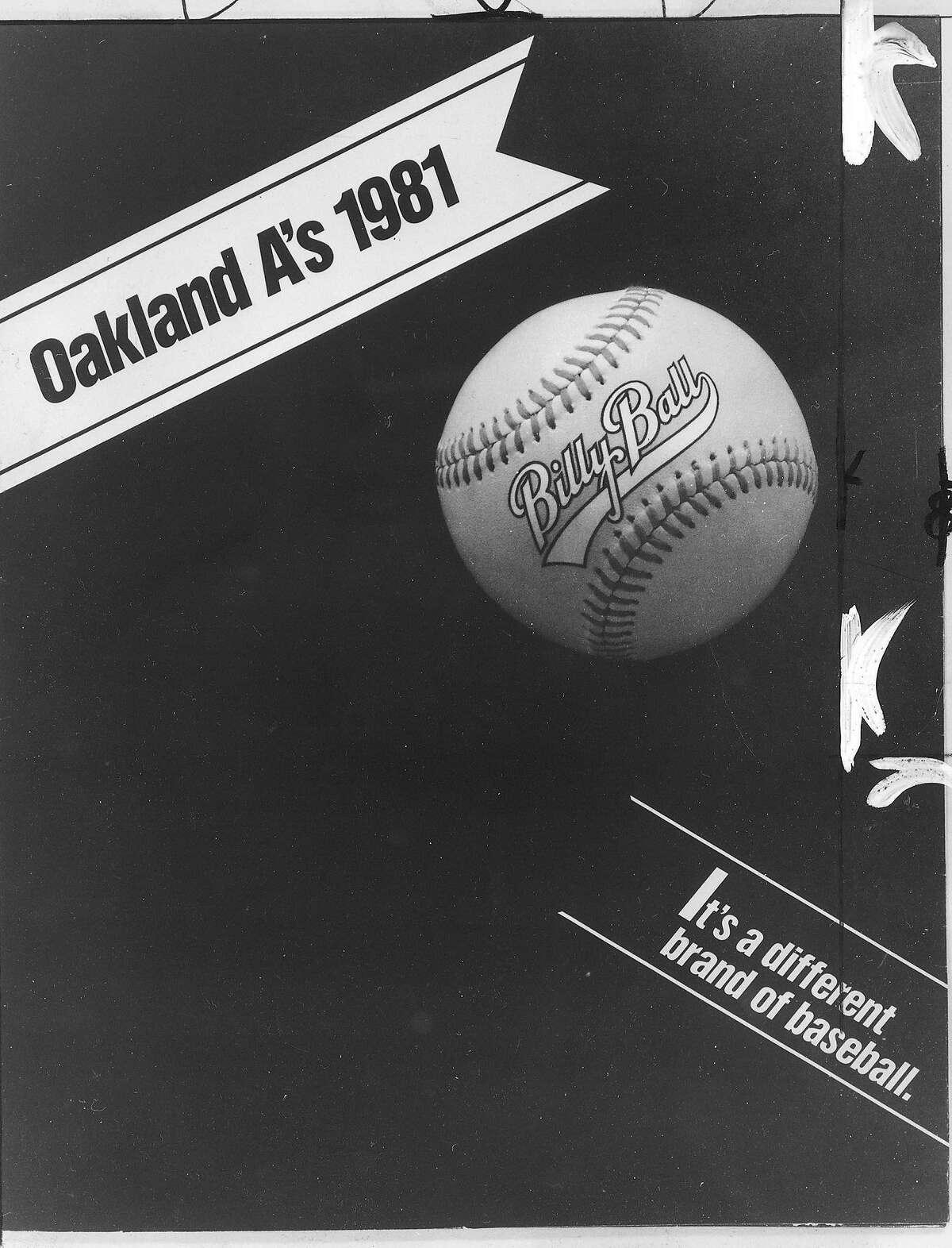 as19_1981-42.jpg October 15, 1981 Oakland Athletics Bill Ball Logo from the 1981 season
