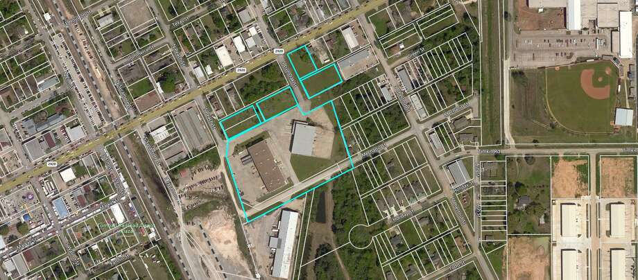 The Tomball Economic Development Corp. plans a mixed-use development on vacant land next to two industrial warehouses in the South Live Oak Industrial Park near downtown Tomball. The property is on South Live Oak, located directly off Main Street. Photo: Tomball Economic Development Corp.