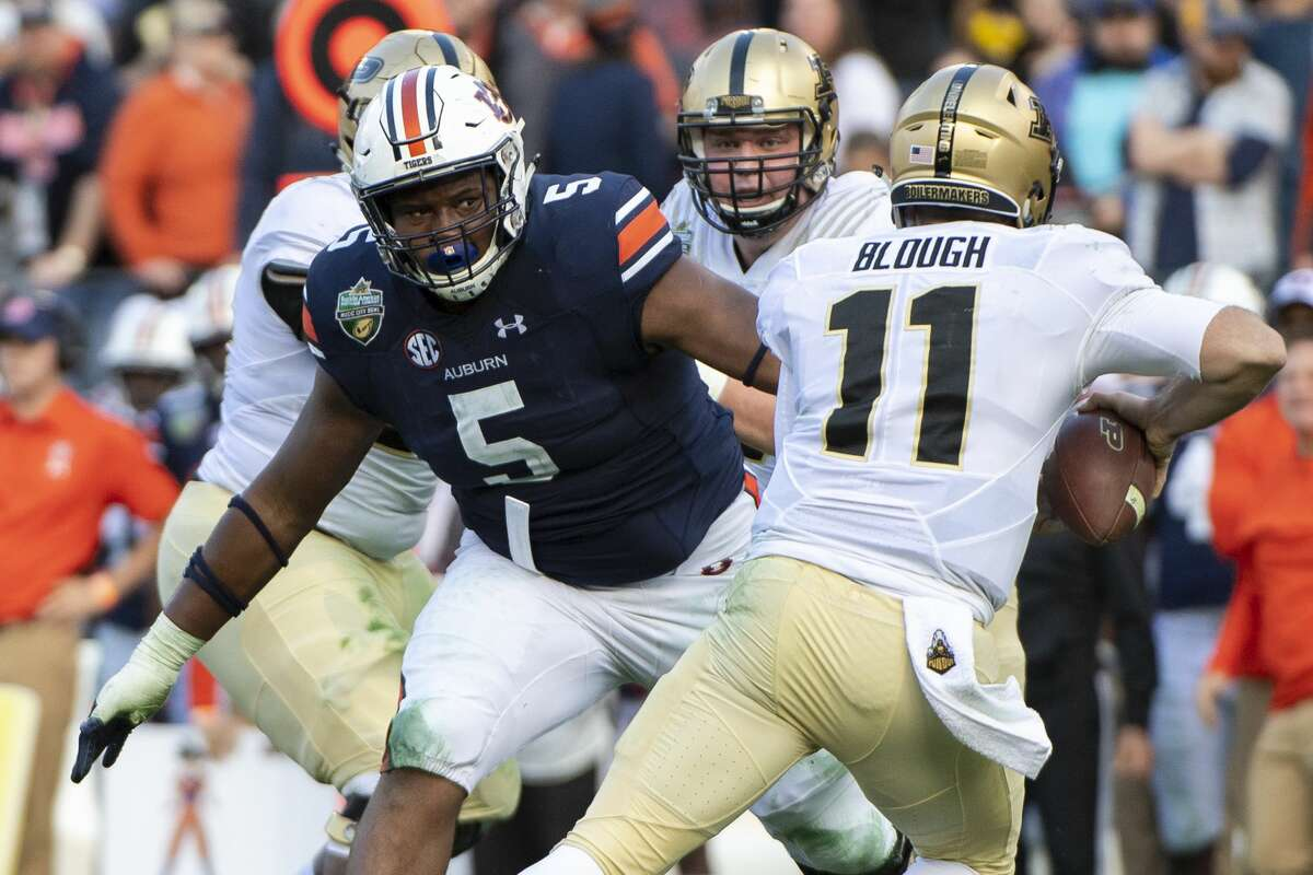 Auburn's Derrick Brown is a mobile interior defensive lineman capable of playing nose tackle or outside.