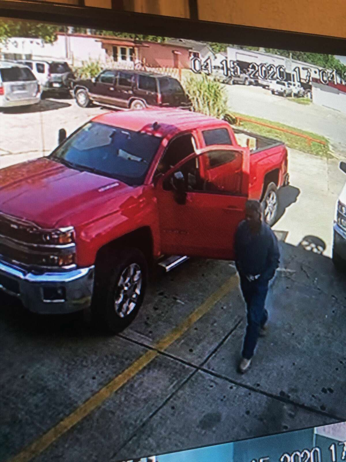 Witnesses said Maldonado fled in a red 2016 Chevrolet 2500 truck with a paper license plate that read 66503A8.