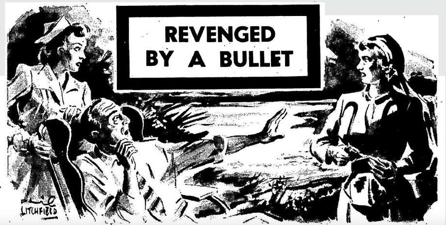 This illustration appeared in a 1948 retrospective on the Grace shooting, in the World's News of New South Wales, Australia.  (Photo: The World's News / Trove) Photo: The World's News (New South Wales)