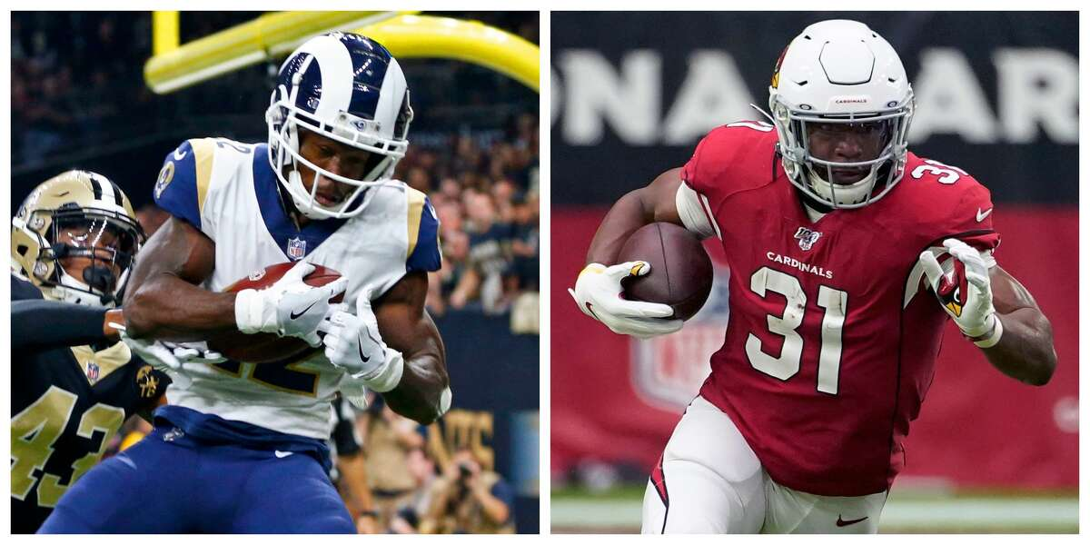 The Texans traded for players with a history of injuries: Former Rams wide receiver Brandin Cooks, left, and former Cardinals running back David Johnson.