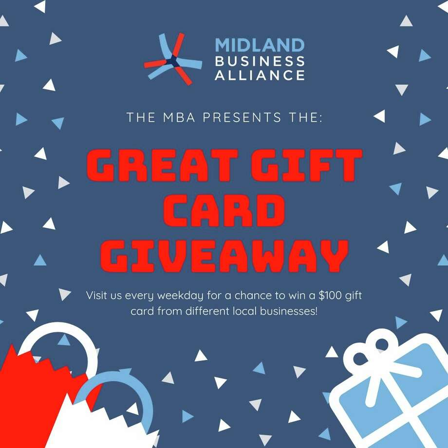 The Midland Business Alliance has introduced an initiative to help the local small business community: The Great Gift Card Giveaway. Photo: Midland Business Alliance