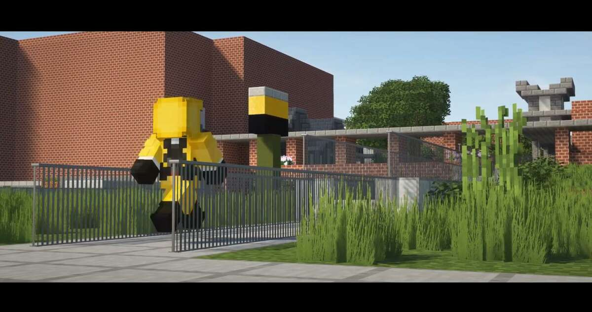 McCollum High School freshman Fabian Medina, 15, re-created his high school in the video game Minecraft. Medina spent around a month re-creating the campus, which is closed because of the COVID-19 pandemic, and posted his work on YouTube.