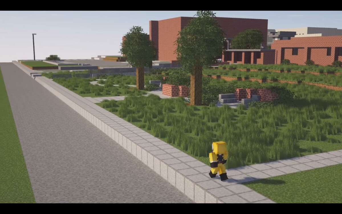 McCollum High School freshman Fabian Medina recreated his high school in the video game 'Minecraft.' The 15-year-old spent more than 50 hours working on the design across a month.