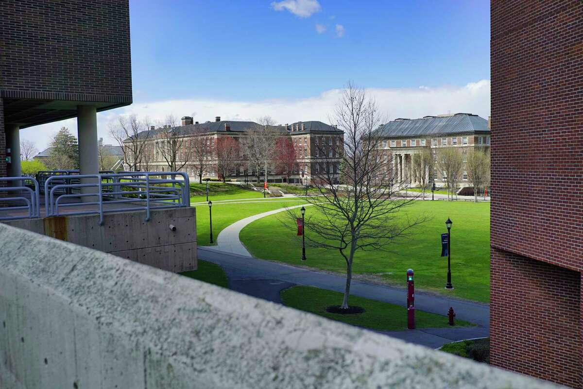 A view of the RPI campus on Thursday, April 16, 2020, in Troy, N.Y. (Paul Buckowski/Times Union)