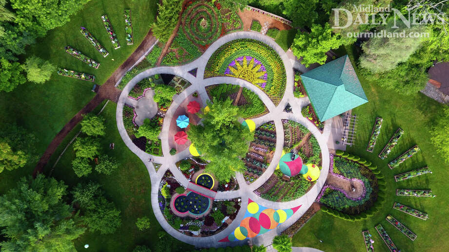 Dow Gardens from the air. Photo: (Daily News File)
