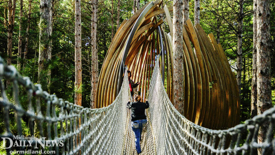 The rope bridge at Whiting Forest Canopy Walk. Photo: (Daily News File)