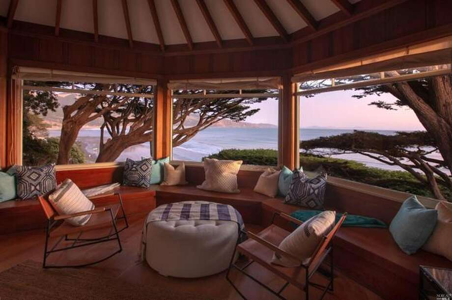 With coveted private beach access and panoramic views of the sunset over the bay, 49 Terrace Avenue is on the market for $4.1 million for the four-bedroom, three-bath home. Photo: Bill Reizel Photography