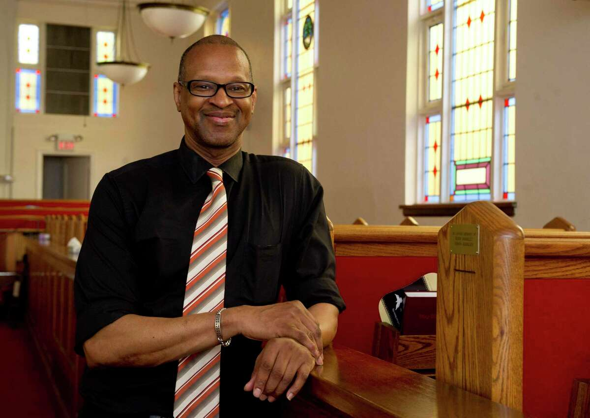 Jack Bryant, President of the Stamford chapter of the NAACP, poses for a photo at Faith Tabernacle Missionary Baptist Church in Stamford, Conn., on Friday, June 13, 2014. Bryant, who was elected to the Stamford Board of Education in November, died Thursday.