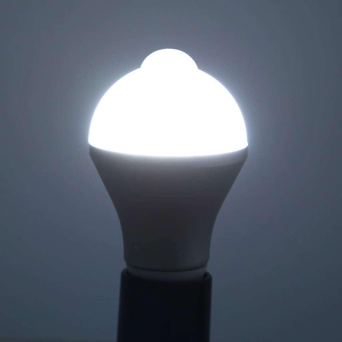 Motion sensor light bulbs, two pack for $19.89