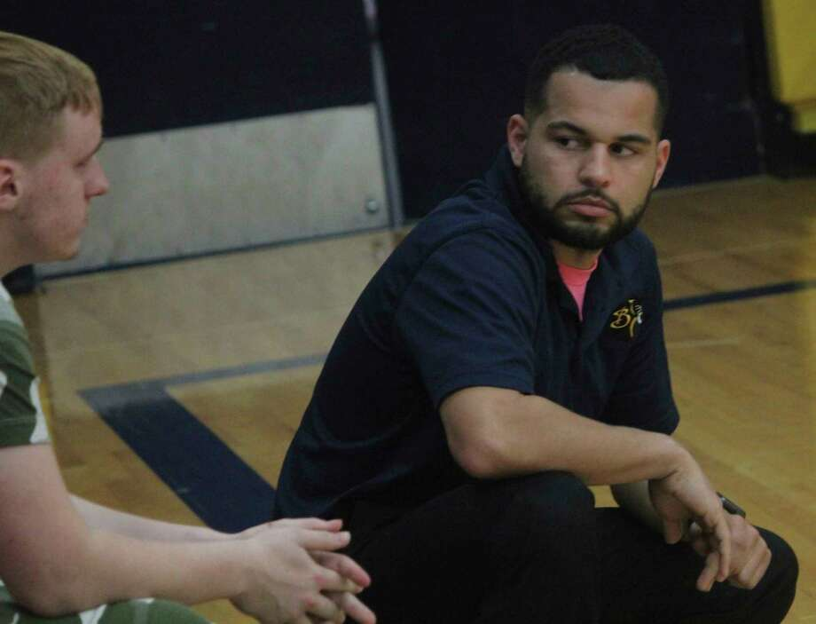 Baldwin volleyball coach Duane Roberts (right) is preparing for next season. (Pioneer file photo)