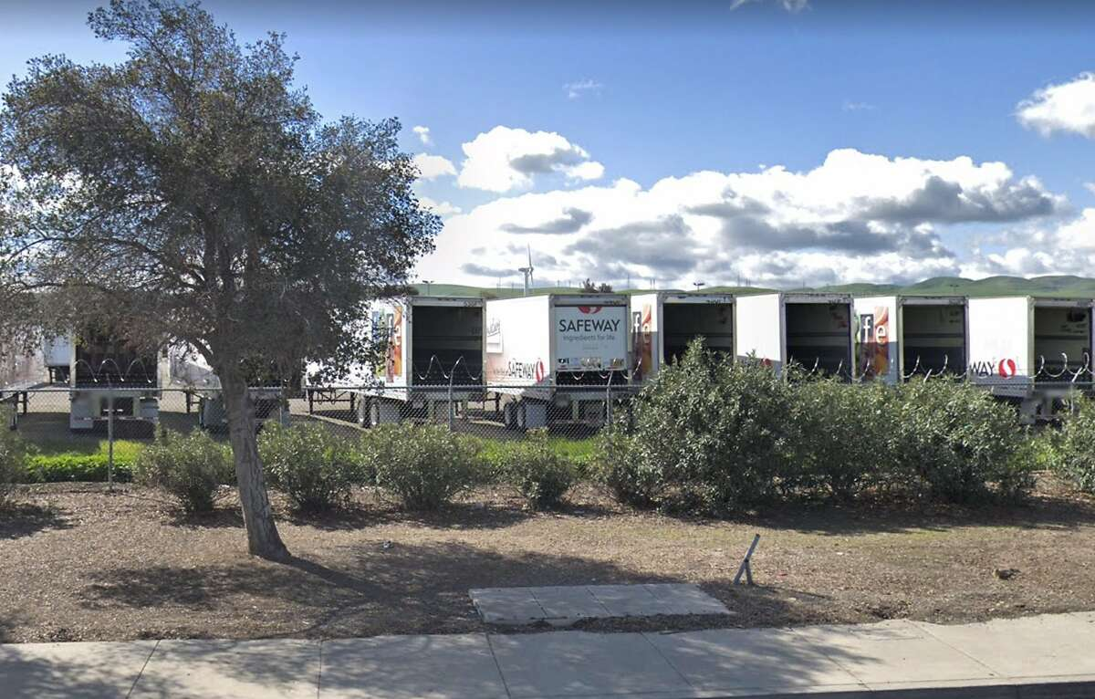 A Google Street View picture of the Safeway Northern California Distribution Center in Tracy, California, in March 2019.