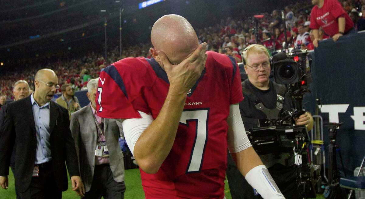 Cover your eyes. In Jerome Solomon's crystal ball, Brian Hoyer is back with the Texans.