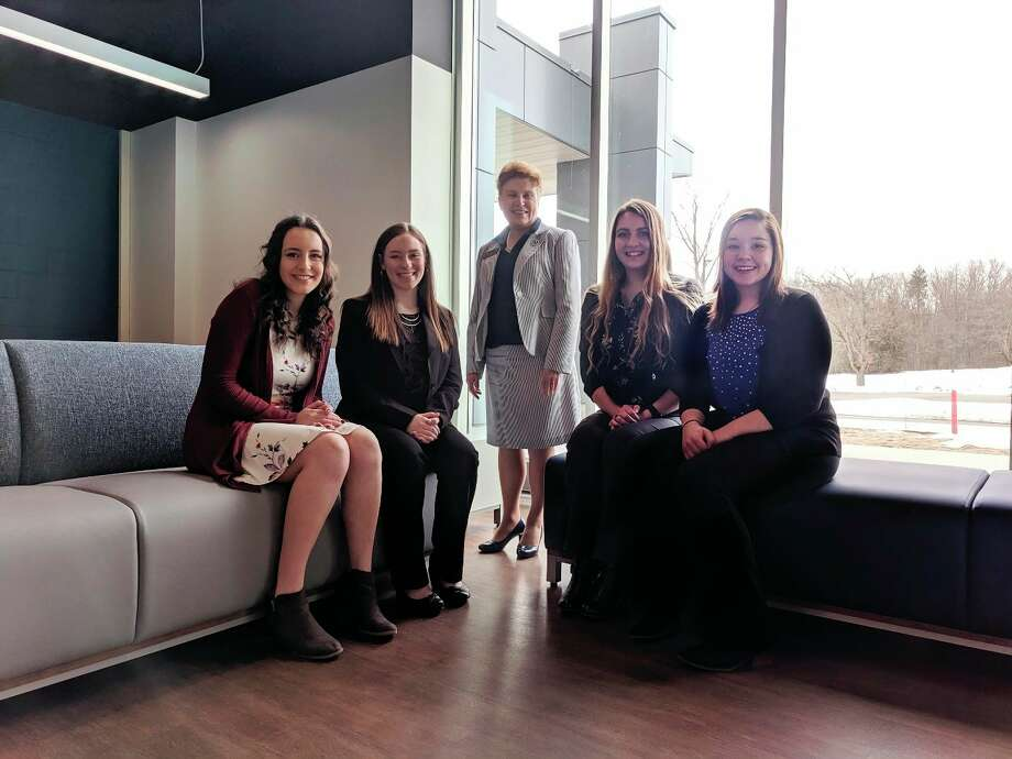 From left, Sarah Lator, Jessalyn Justice, Christine Hammond (Mid's president), Anna Woodworth, and Libby Lockhart. (Photo provided)
