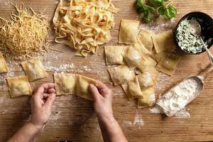 A simple sheet of pasta can be cut and molded into myriad shapes.