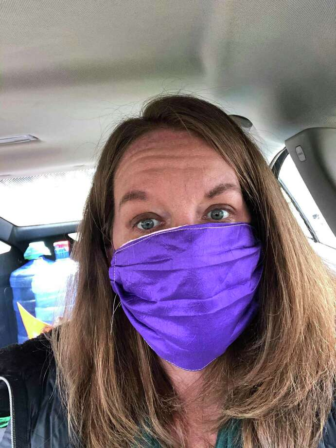 Sarah Schulz is pictured wearing a mask. Team Schulz has provided masks for hundreds of individual at-risk community members including cancer survivors, the elderly, immuno-compromised people, pregnant moms and the elderly. (Photo provided)