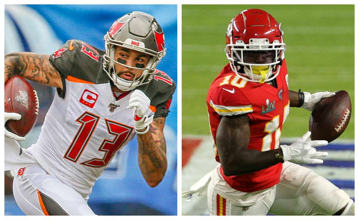TEXAS VS. GEORGIAWide receiverMike Evans (Galveston Ball High School) vs. Tyreek Hill (Douglas' Coffee High School)Evans is a three-time Pro Bowler and was second-team All-Pro in 2018, but Cooks has been a Pro Bowler in each of his four NFL seasons and is a two-time first-team All-Pro selection.Edge: Georgia