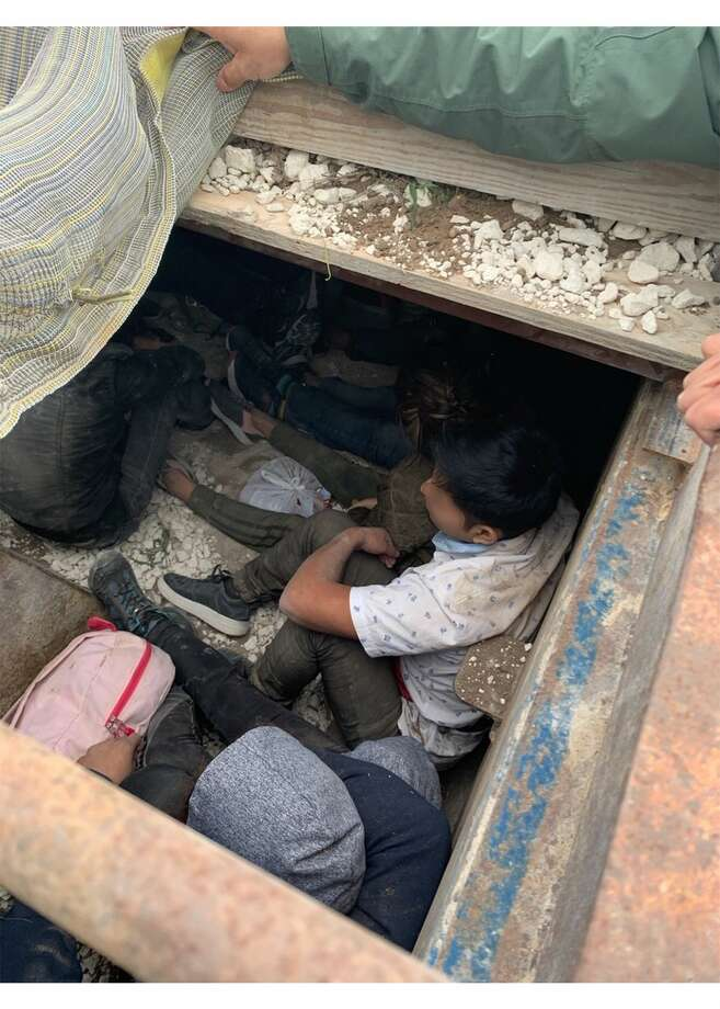 Border Patrol agents stopped an attempt to smuggle 30 illegal immigrants in a dump truck Photo: Courtesy