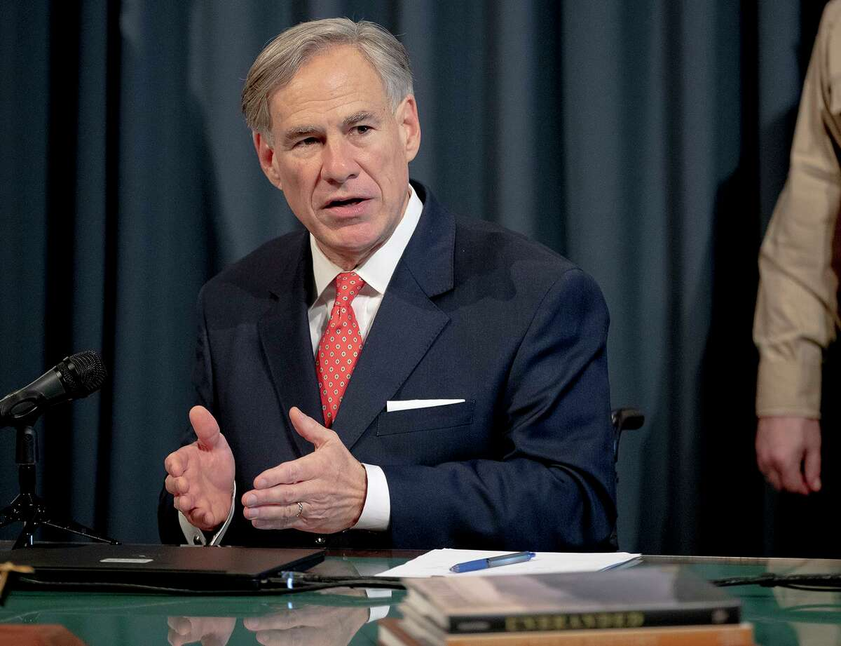 Texas Gov. Greg Abbott speaks about the state's response to COVID-19 during a news conference on Monday, April 13, 2020, in Austin, Texas. (Nick Wagner/Austin American-Statesman via AP) >>>PHOTOS: See the latest coverage of coronavirus response in Houston...