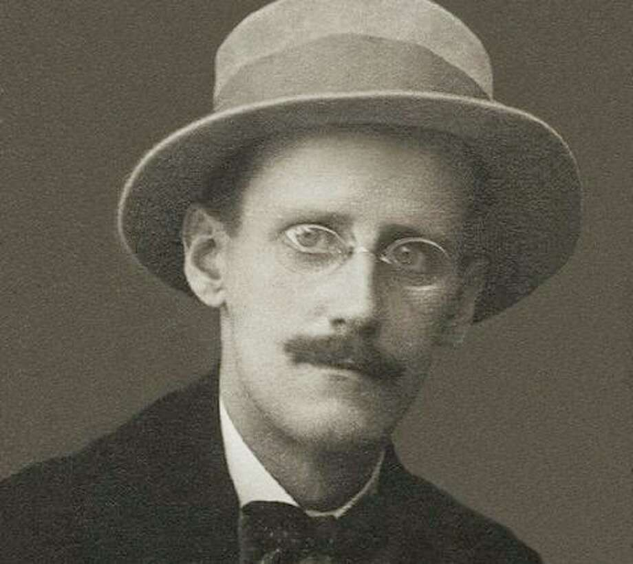 """James Joyce around 1914, four years before his novel """"Ulysses"""" was first serialized in the American journal The Little Review. Michael Bellacosa expects to use a segment of Joyce reading from the novel for Wilton Library's Friday Evening Virtual Literary Salon. Photo: Westport News / File Photo / Westport News"""
