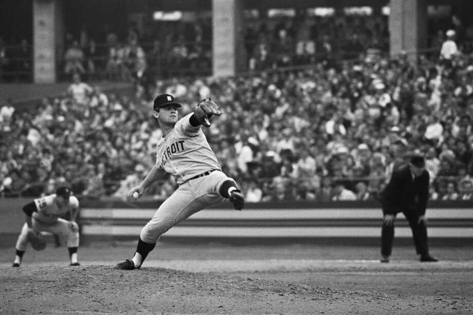 Detroit Tigers' Denny McLain pitches against the St. Louis Cardinals in Game 6 of the 1968 World Series. Photo: Getty Images