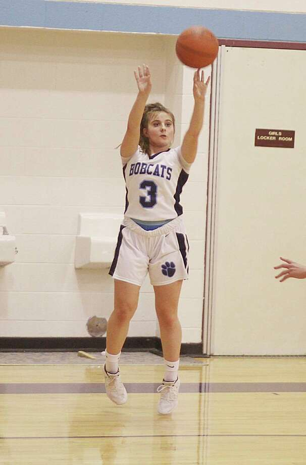 Brethren's Megan Cordes was recently named the top 3-point shooter in girls basketball this season by the Basketball Coaches Association of Michigan. (News Advocate file photo)